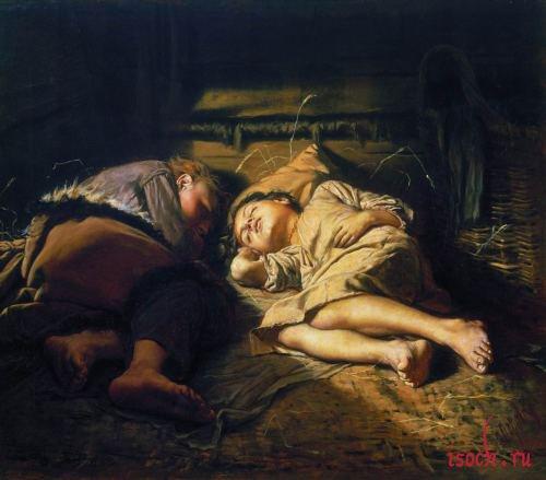 Картина В.Г. Перова «Спящие дети»