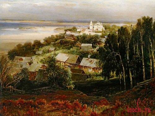Картина А.К. Саврасова «Печорский монастырь близ Нижнего Новгорода»