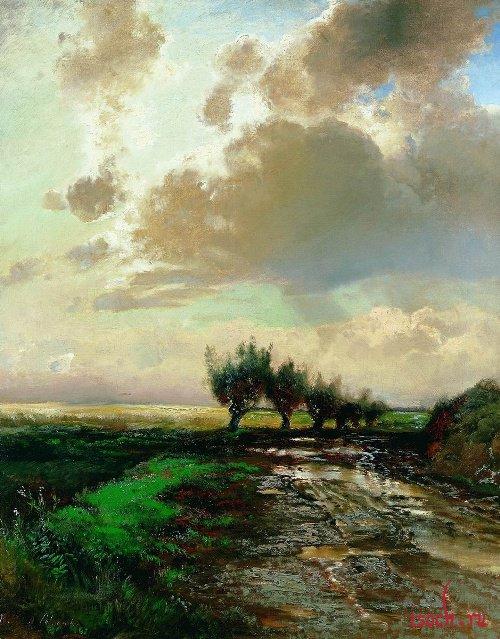 Картина А.К. Саврасова «Проселок»