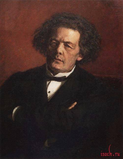 Картина И.Е. Репина «Портрет А.Г. Рубинштейна»