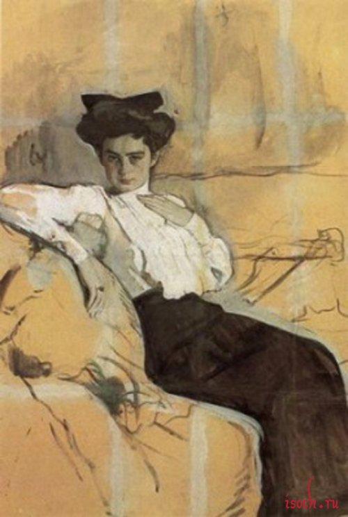 Картина В.А. Серова «Портрет Г.Л. Гиршман»