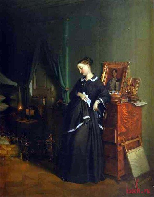 Картина П.А. Федотова «Вдовушка»