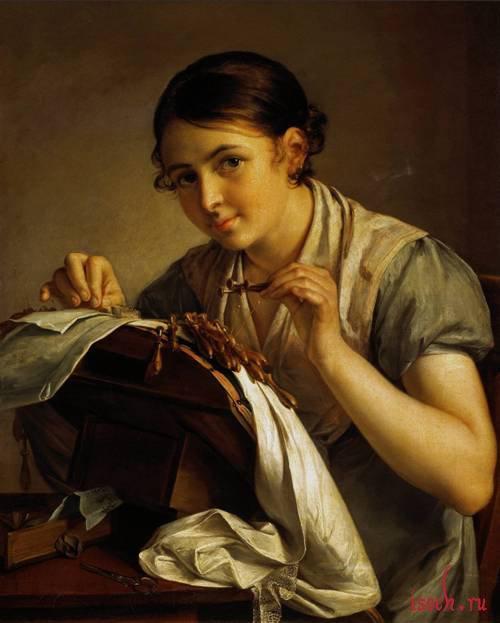 Картина В.А. Тропинина «Кружевница»