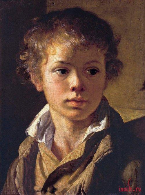 Картина В.А. Тропинина «Голова мальчика»