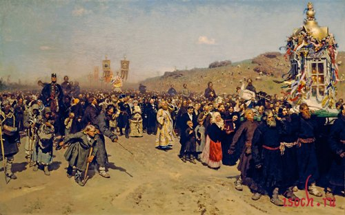 Картина И.Е. Репина «Крестный ход в Курской губернии»