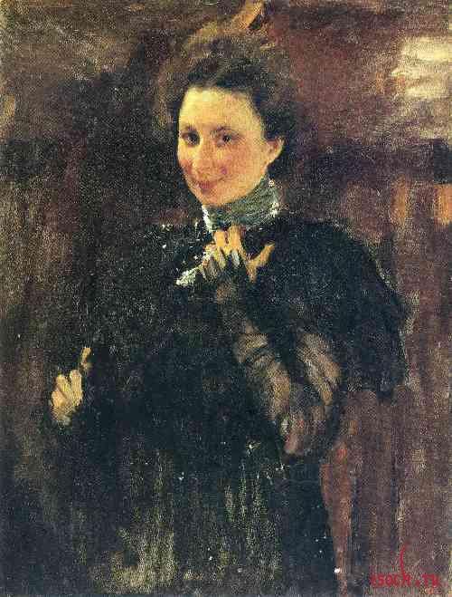 Картина В.А. Серова «Портрет М.К. Олив»