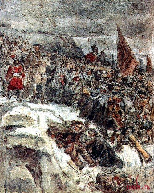 Картина В.И. Сурикова «Переход Суворова через Альпы»