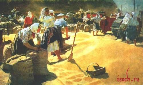 Картина Т.Н. Яблонской «Хлеб»
