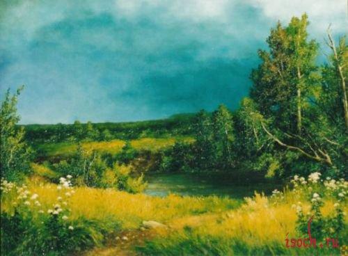 Картина И.И. Шишкина «Перед грозой»