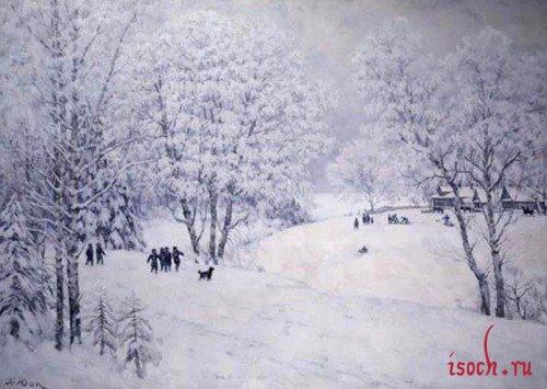 Картина К.Ф. Юона «Русская зима. Лигачево»