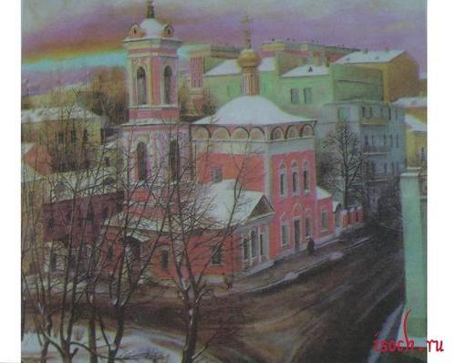 Картина Т. Назаренко «Церковь Вознесения на улице Неждановой»