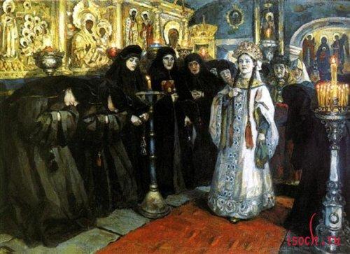 Картина В.И. Сурикова «Посещение царевной женского монастыря»