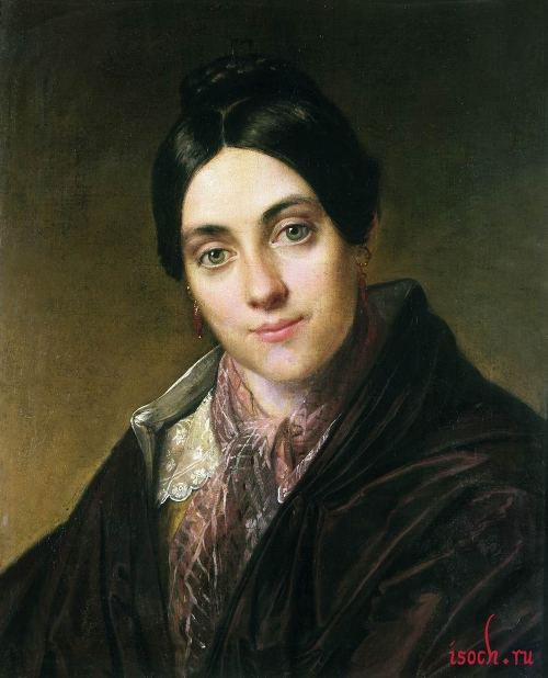 Картина В.А. Тропинина «Портрет Л.К. Маковской»