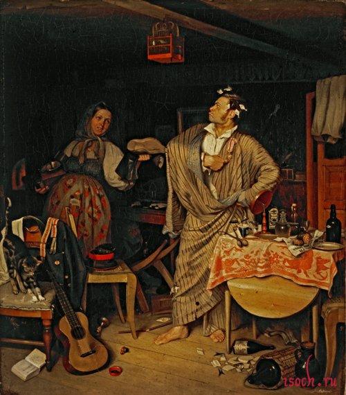 Картина П.А. Федотова «Свежий кавалер»