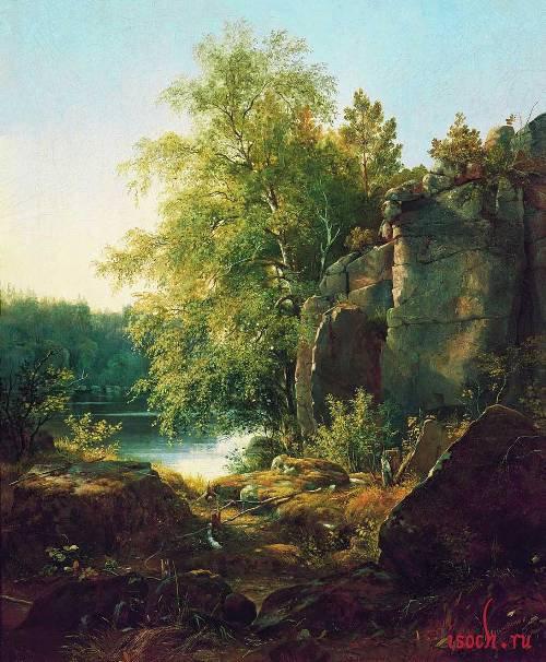 Картина И.И. Шишкина «Вид на острове Валааме»
