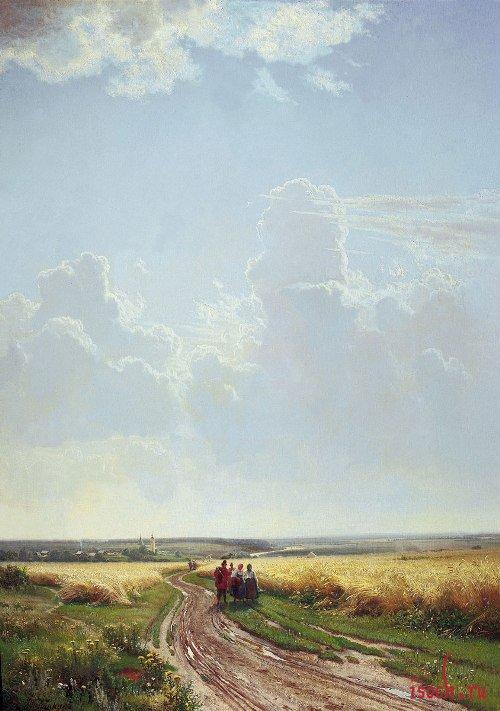 Картина И.И. Шишкина «Полдень. В окрестностях Москвы»