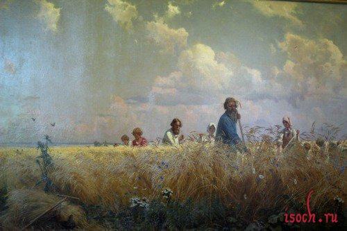 Картина Г.Г. Мясоедова «Косцы (Страдная пора)»