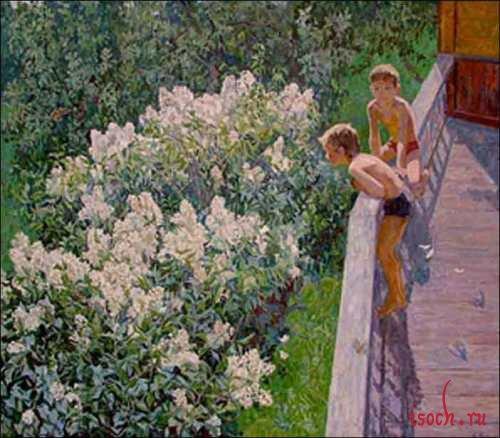 Картина М.К. Копытцевой «Летний день. Цветет сирень»