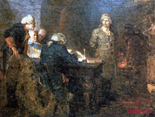 Картина А. Кузнецова «Допрос Салавата»