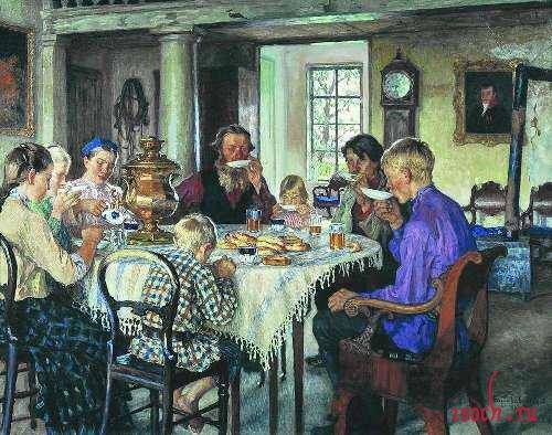 Картина Н.П. Богданова-Бельского «Новые хозяева»