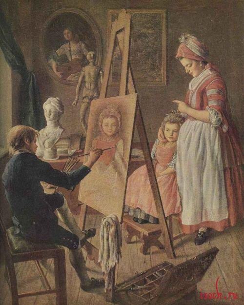 Картина И.И. Фирсова «Юный живописец»