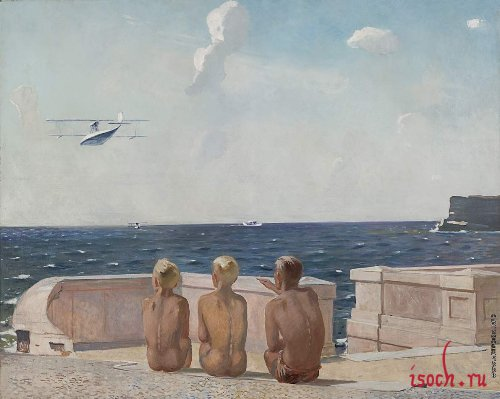 Картина А.А. Дейнека «Будущие летчики»