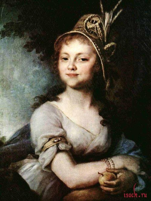 Картина В.Л. Боровиковского «Портрет Е.Н. Арсеньевой»