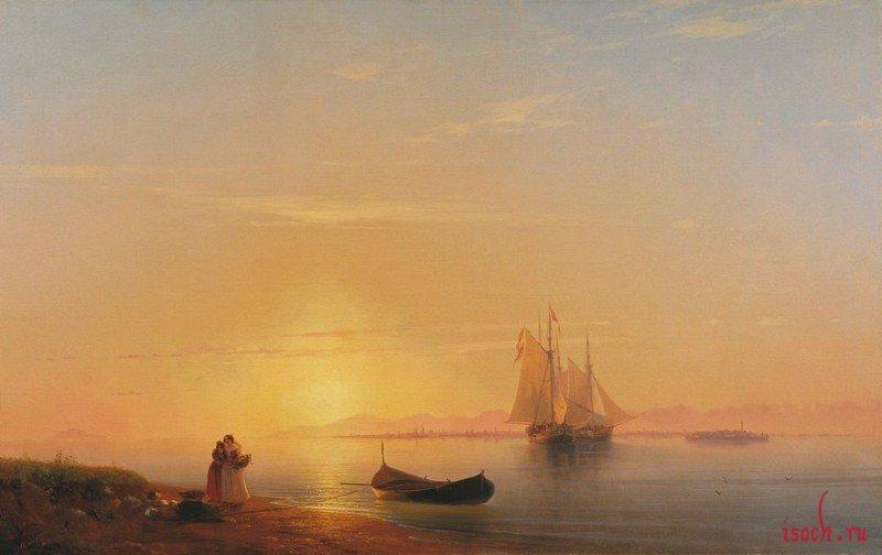 Картина И.К. Айвазовского «Берега Далмации»