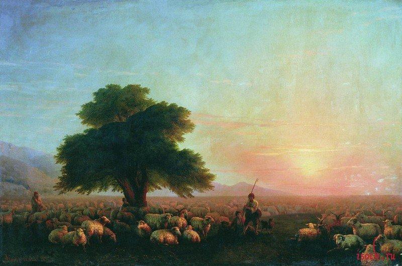 Картина И.К. Айвазовского «Отара овец»