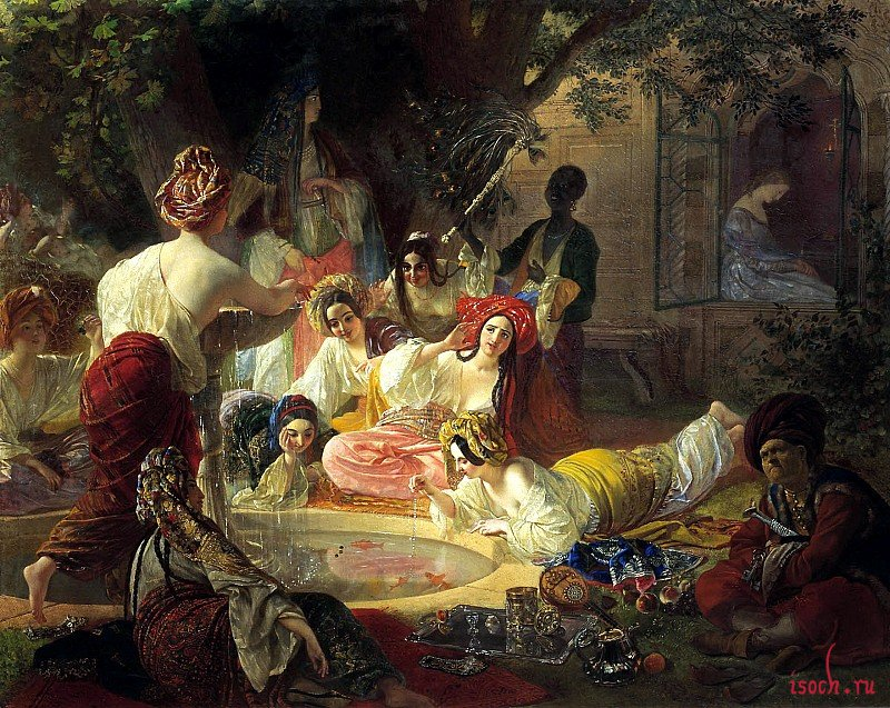 Картина К.П. Брюллова «Бахчисарайский фонтан»