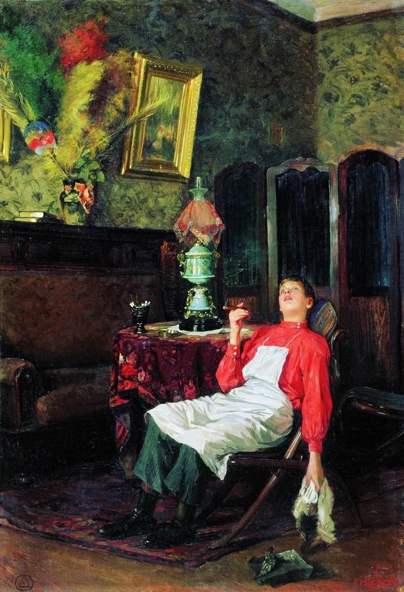 Картина В.Е. Маковского «Без хозяина»
