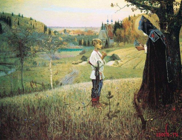 Картина М.В. Нестерова «Видение отроку Варфоломею»