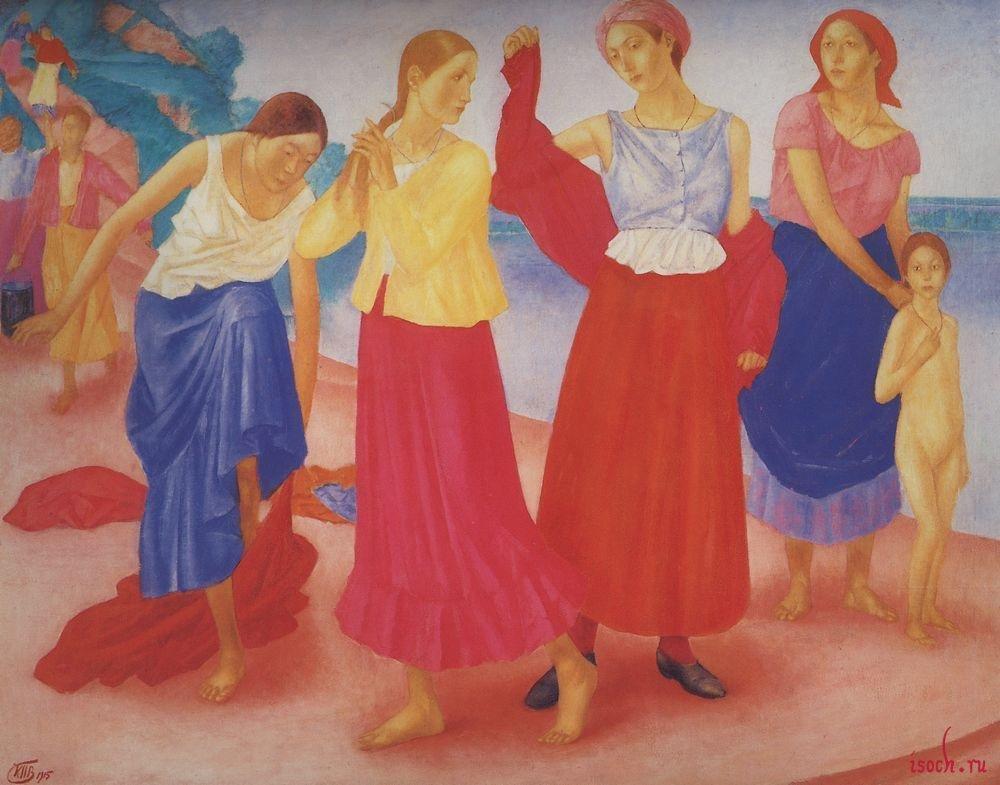 Картина К.С. Петрова-Водкина «Девушки на Волге»