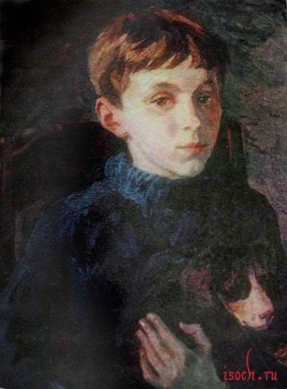 Картина А.А. Пластова «Саня Маликов»