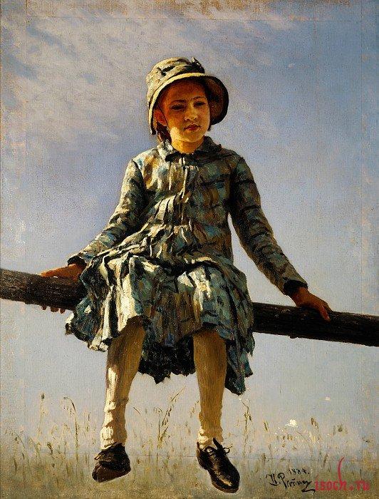 Картина И.Е. Репина «Стрекоза»