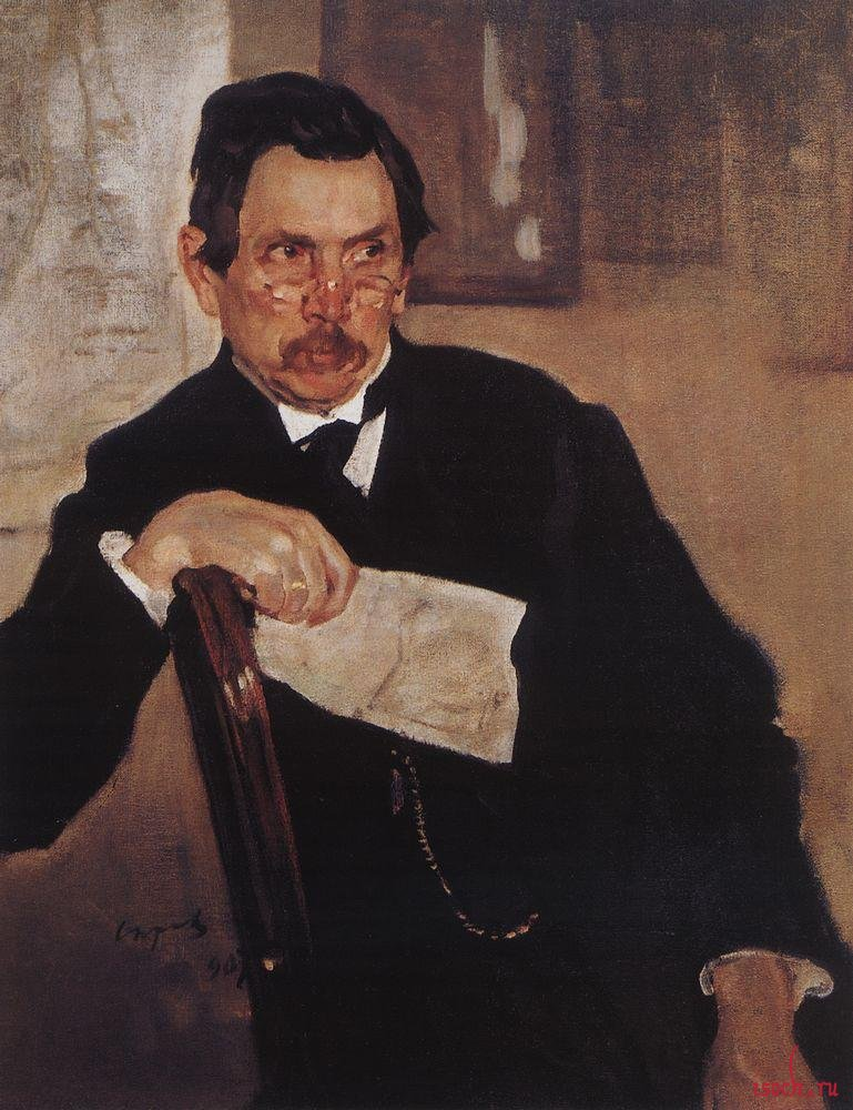 Картина В.А. Серова «Портрет А.В. Касьянова»