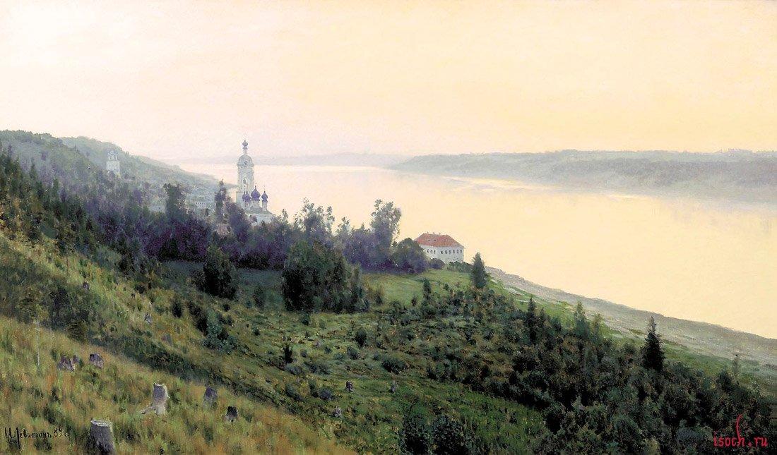 Картина И.И. Левитана «Вечер. Золотой плёс»