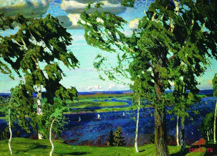 Картина А.А. Рылова «Зелёный шум»