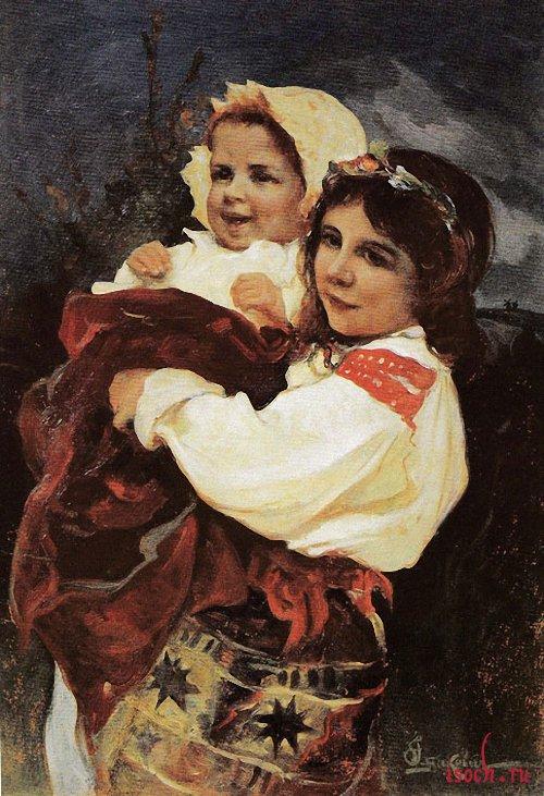 Картина И.С. Ижакевича «Мама идет!»