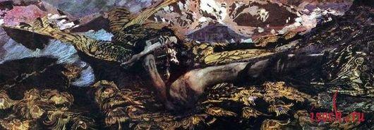 Картина М.А. Врубеля «Демон поверженный»