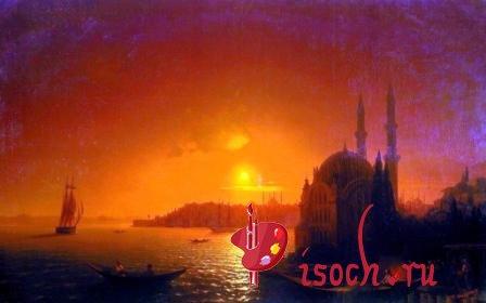 Картина И.К. Айвазовского «Вид Константинополя при лунном освещении»
