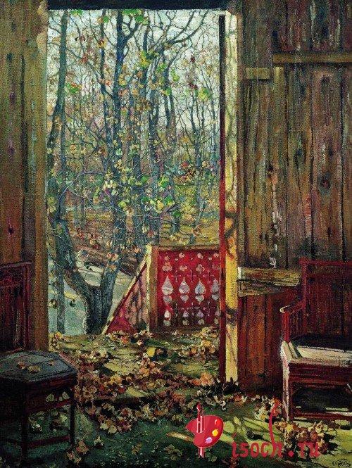Картина И.И. Бродского «Летний сад осенью» (вариант 2)