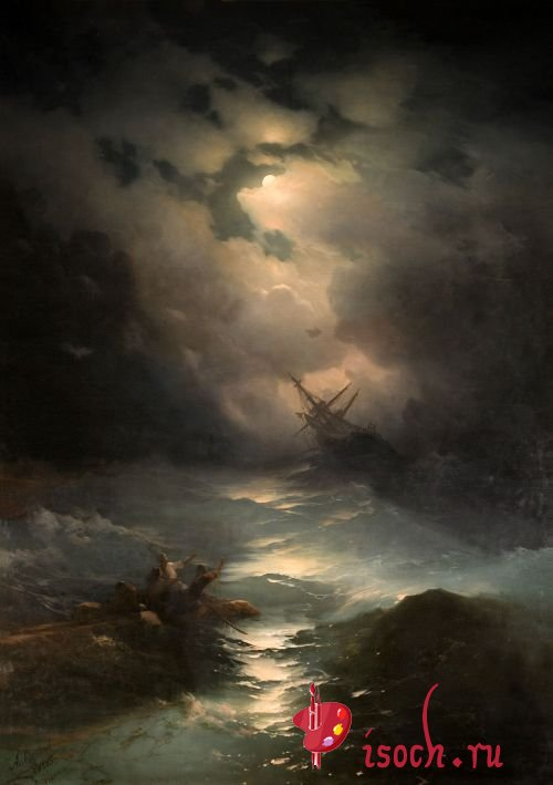 Картина И.К. Айвазовского «Буря на Северном море»