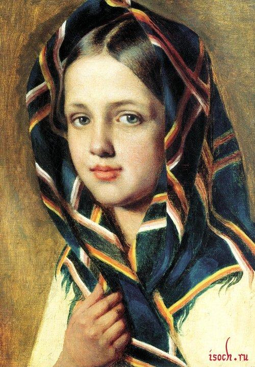 Картина А.Г. Венецианова «Девушка в платке»