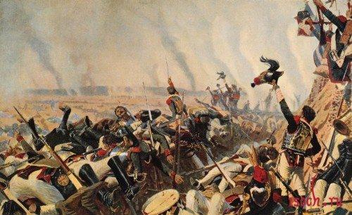 Картина В.В. Верещагина «Конец Бородинского сражения»
