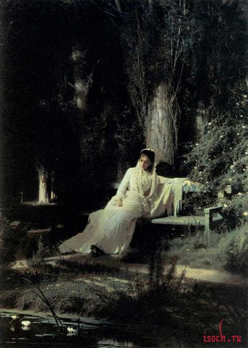 Картина И.Н. Крамского «Лунная ночь»