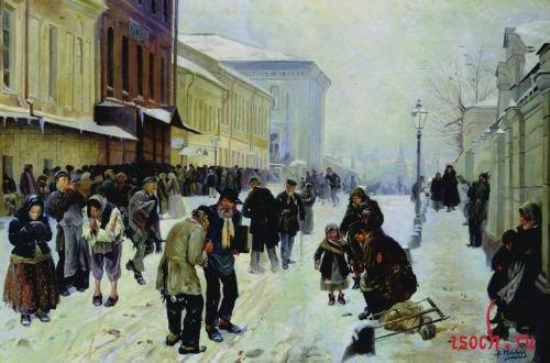 Картина В.Е. Маковского «Ночлежный дом»