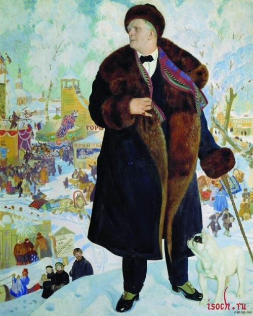 Картина Б.М. Кустодиева «Портрет Шаляпина»