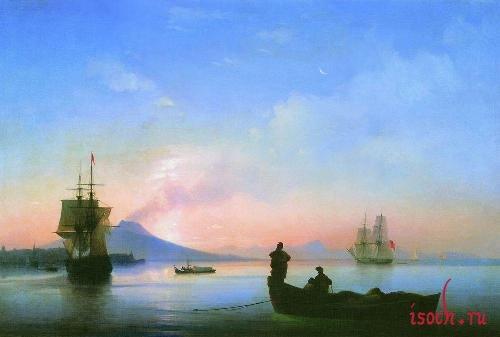Картина И.К. Айвазовского «Неаполитанский залив утром»