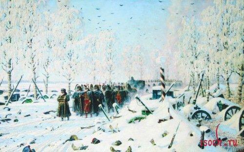 Картина В.В. Верещагина «На большой дороге - отступление, бегство...»
